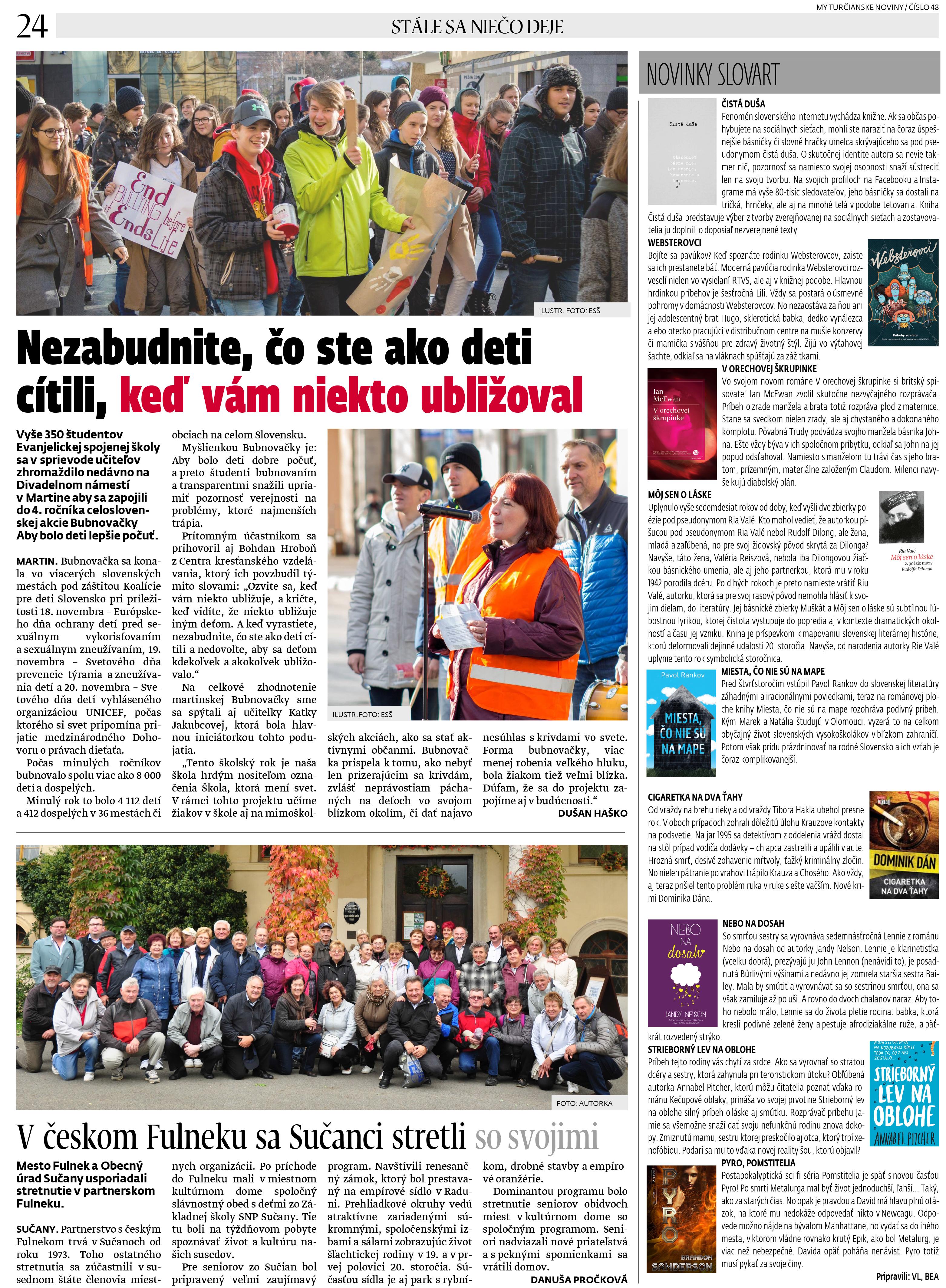 0697846bb Bubnovačka na Divadelnom námestí (MY Turčianske noviny)